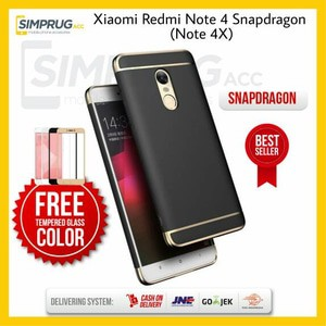 PAKET Case Xiaomi Redmi Note 4X Snapdragon Note 4 Bumper 3in1 Luxury Casing Back Cover Hard Hardcase | Shopee Indonesia