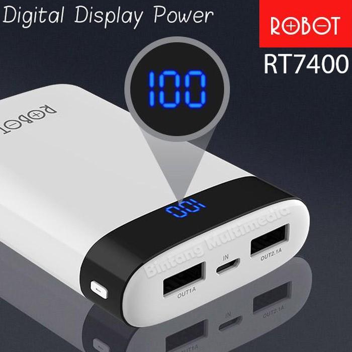 Robot RT7400 Powerbank Dual USB Digital Display LED-Power Bank