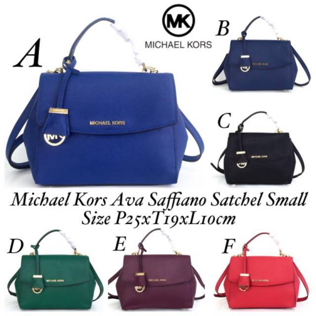 76b5d75c72c2a0 Michael Kors Ava Saffiano Satchel Small | Shopee Indonesia