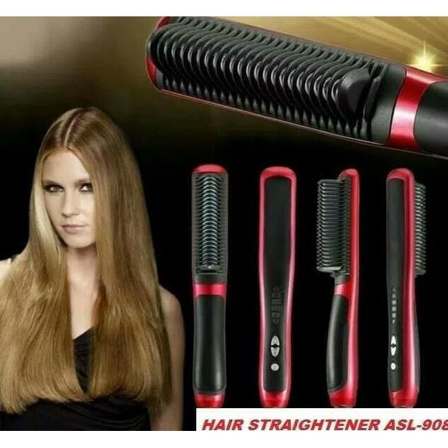 Catok Sisir Pelurus Rambut Fast Hair Straightener ASL-908 Beauty Salon Comb  Japan Best Seller  b835389aba