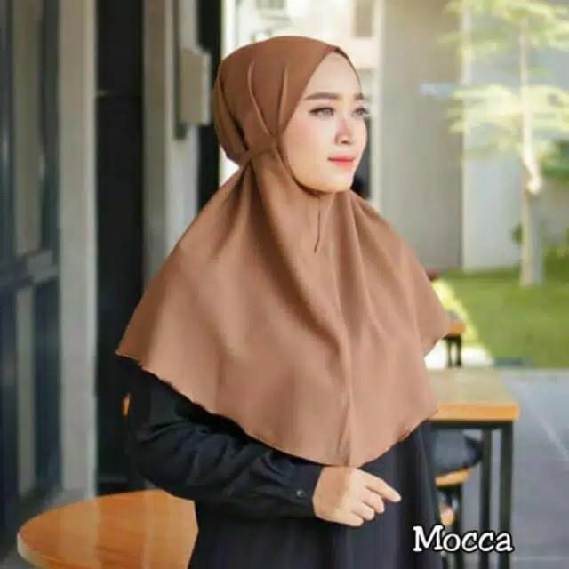 Hijab Bergo Maryam Diamond Italiano Bentuk Oval Shopee Indonesia