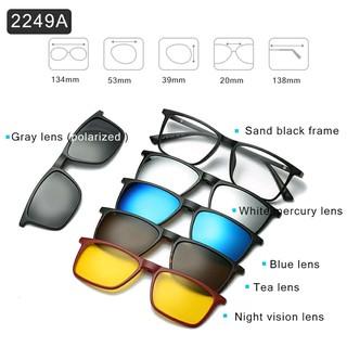Harga preferensial kacamata RB korea Polarized clip on 5 Lensa Anti Silau  UV Radiasi buy now - only Rp186.048 c072f2c9c0