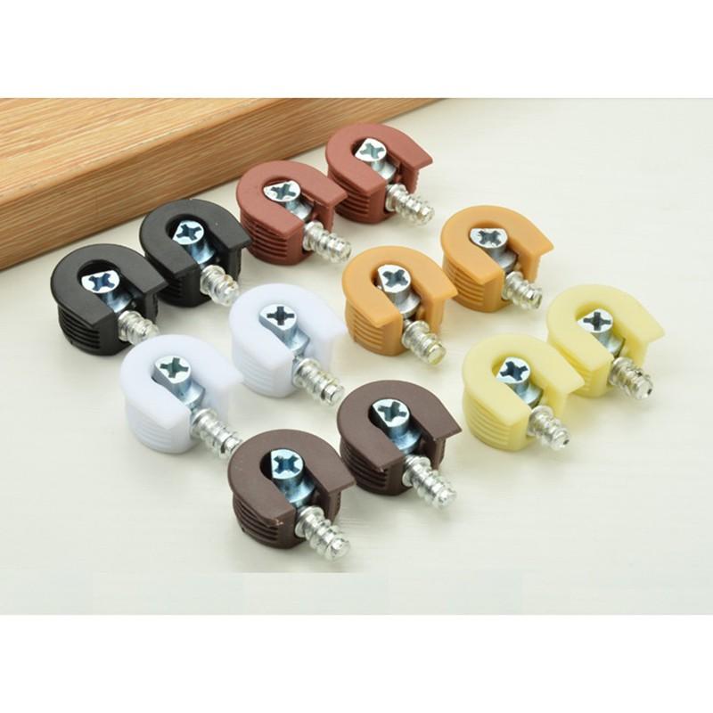 100pcs Lot Cam Lock Furniture Kitchen Cabinet Shelf Support Holder Bracket Studs Pin Shelf Shopee Indonesia