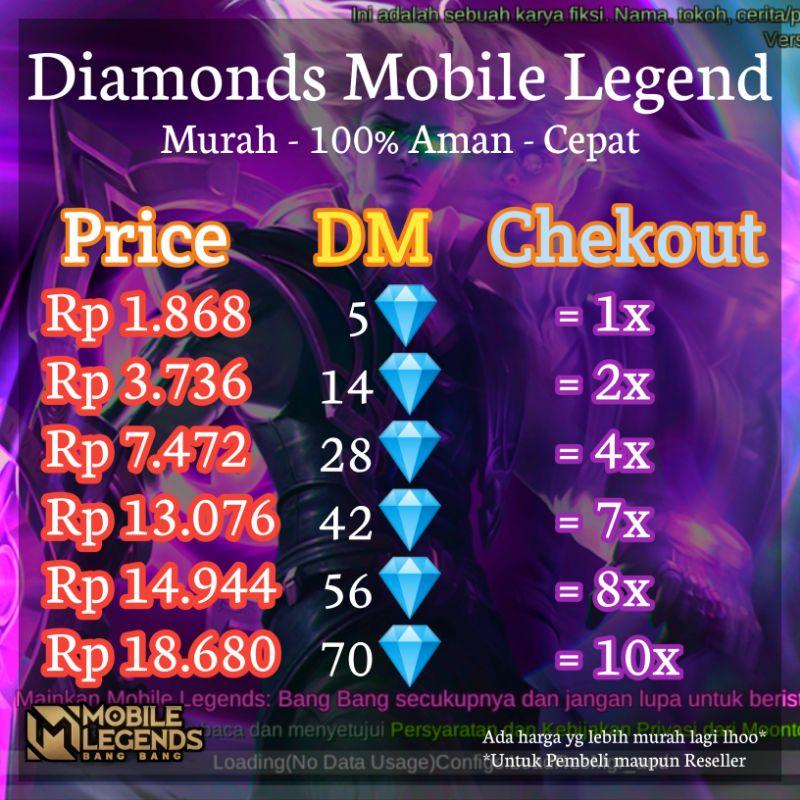 5 DM ML Murah (Fast Respon + Cepat)