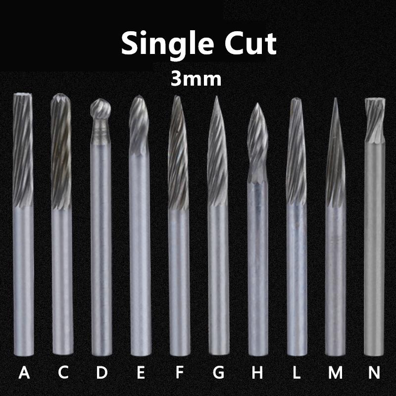 """1 Pcs Cylindrical Tungsten Carbide Burr Bur Cutter Tool Grinder Bit 1//4/"""" Shank D"""