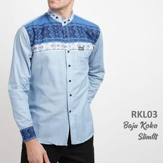 Kemeja Koko Slim Fit Pria Lengan Panjang / Baju Koko Pria / Baju Muslim | Shopee Indonesia