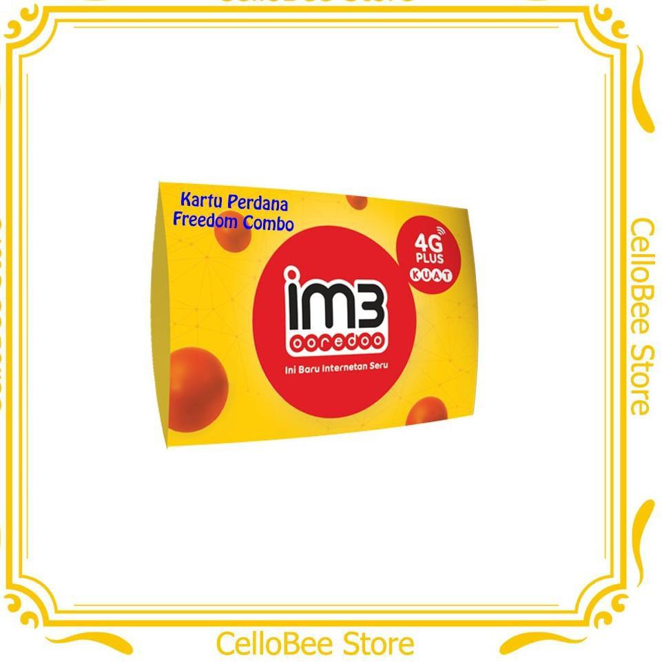 IM3 Ooredoo Kartu Perdana Freedom Combo Kuota 4GB / 8GB / 14GB / 20GB / 30GB / 50GB - CelloBee ,,,,