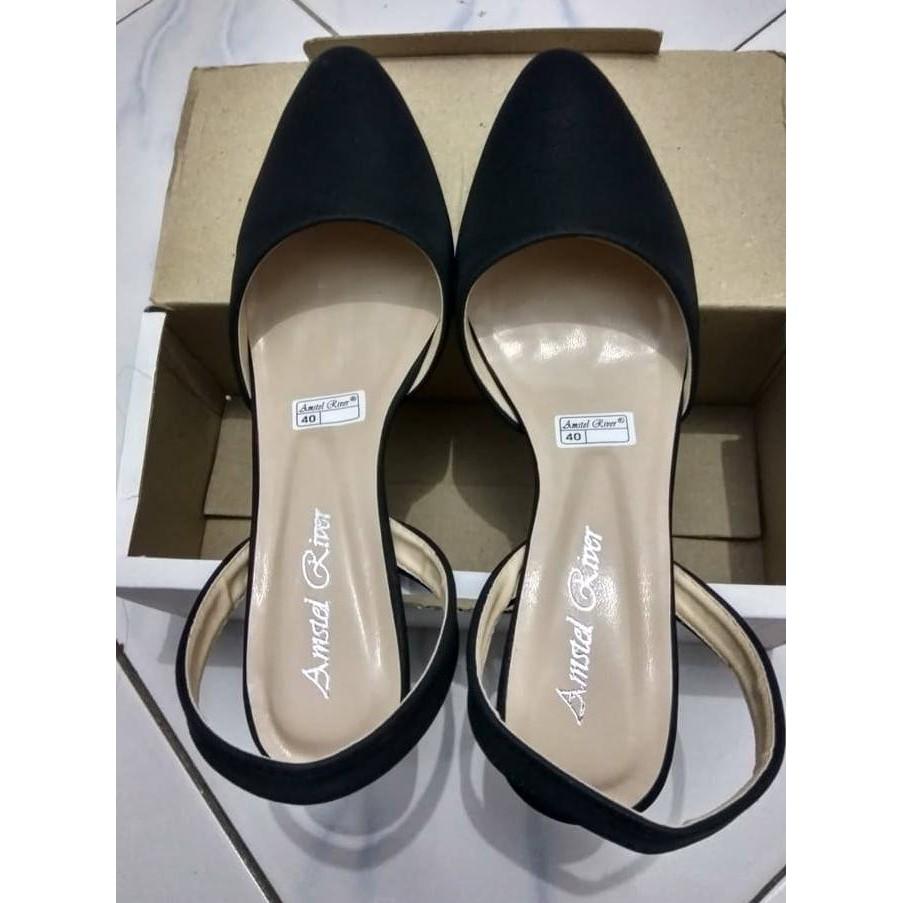 ... Promo Murah Sepatu Formal Kerja kantor Wanita Murah high heels hitam ... 80a0fbfa79
