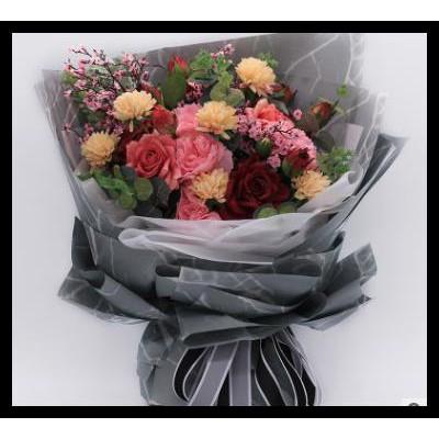 Silahkan Order Kertas Bunga Flower Wrap Motif Marmer Bingkisan Karangan Bunga Shopee Indonesia