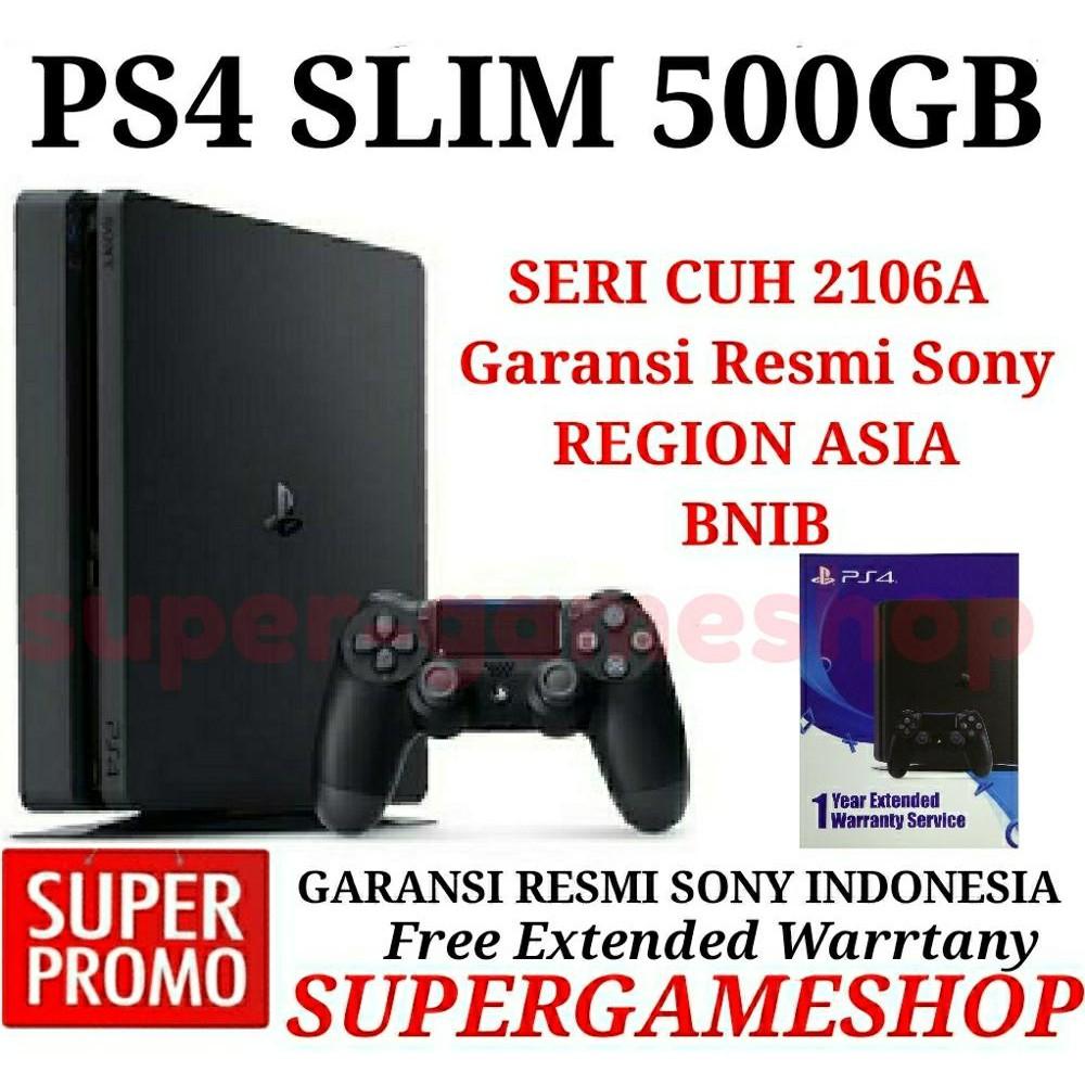 Ps4 Slim Console 500gb 1 Game Pilihan Garansi Sony Resmi Indonesia Cuh 2106a Jet Black Hits