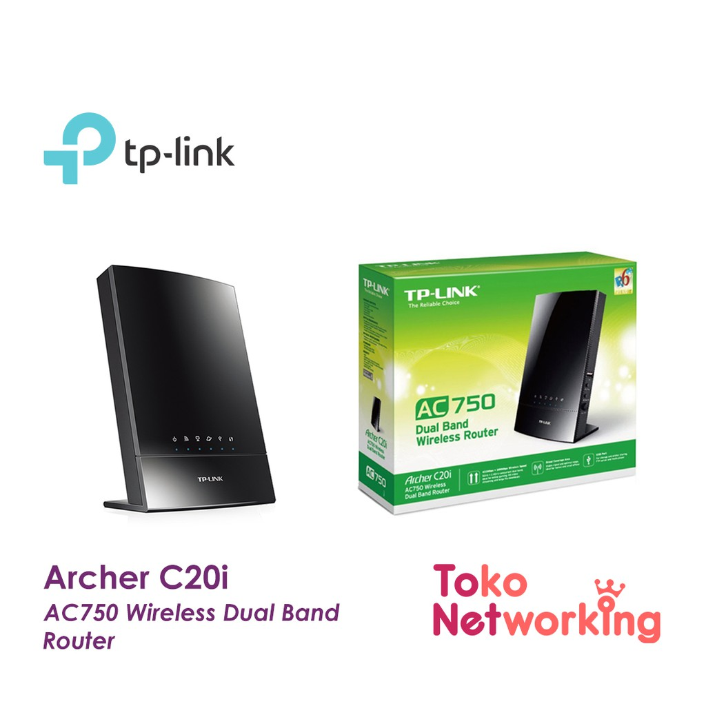 Tp Link Archer C20i Ac750 Wireless Dual Band Router Shopee Indonesia Tl Wr941hp 450mbps High Power N Hitam