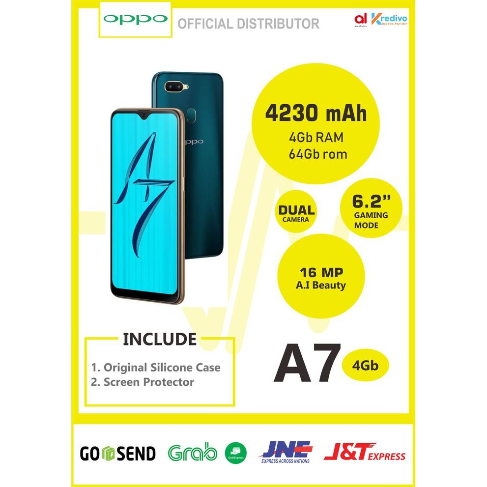 OPPO A7 BIRU RAM 4GB INTERNAL 64GB GARANSI 1 TAHUN - Emas   Shopee Indonesia