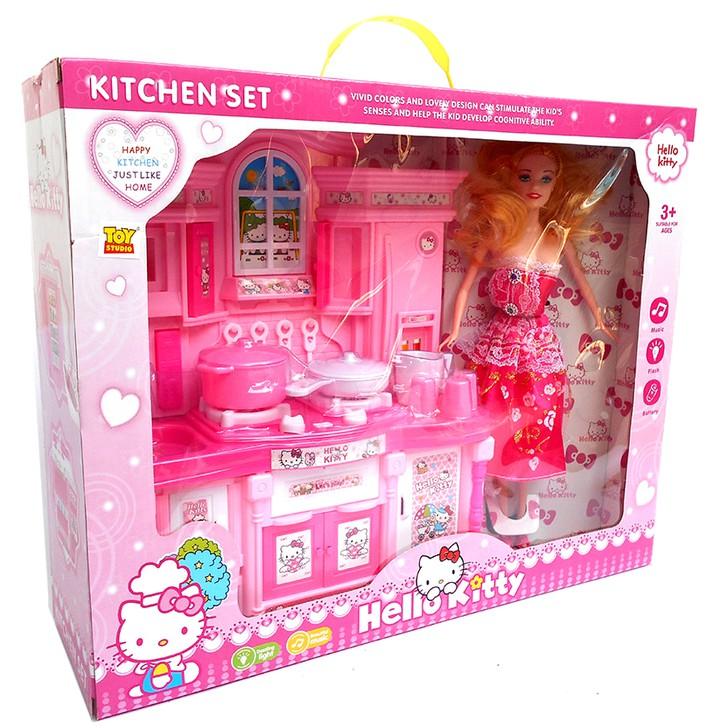 Kitchen Set Hello Kitty Kado Mainan Anak Masak Masakan Shopee Indonesia