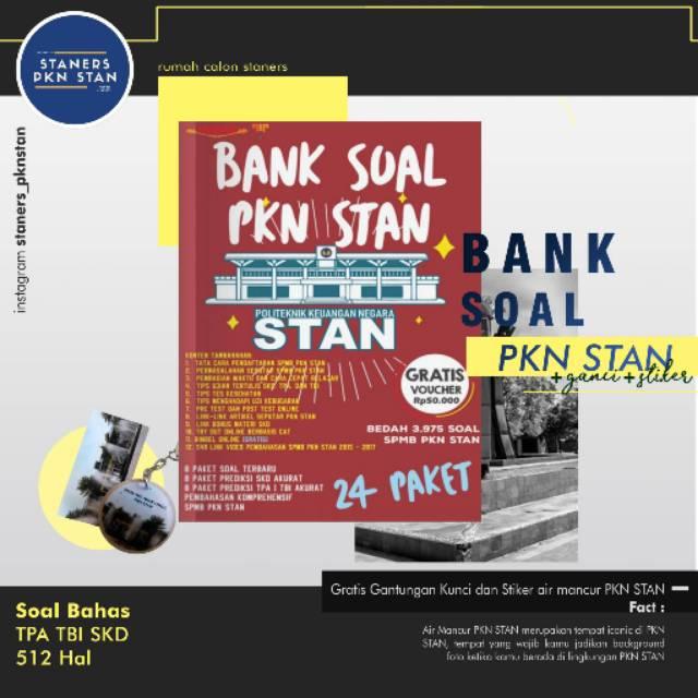 Gratis Stiker Bank Soal Pkn Stan Khusus Calon Staners 2020 Buku Stan Indonesia