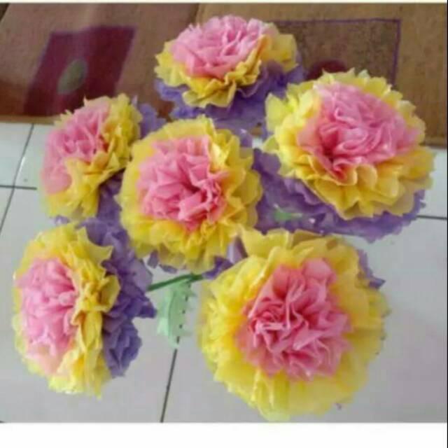 Bunga Plastik 3 Warna Uk Sedang No Pot Shopee Indonesia