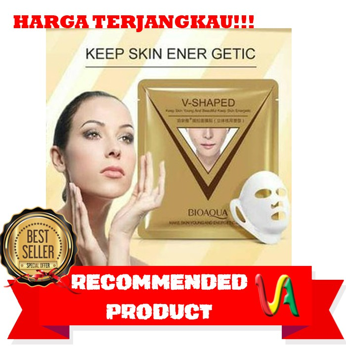 Bioaqua V Shaped Pulling Moisturizing Mask Masker Tirus V | Shopee Indonesia
