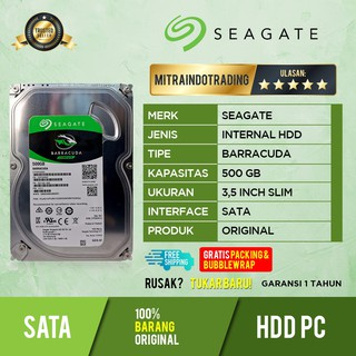 Hdd Pc Seagate 500GB Sata Slim