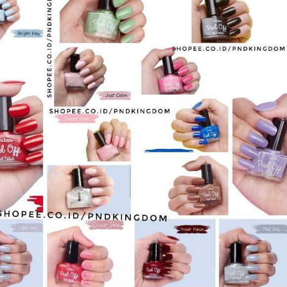 Modern Skine87 Kutek Halal Kutek Peel Off Nail Polish Shopee Indonesia