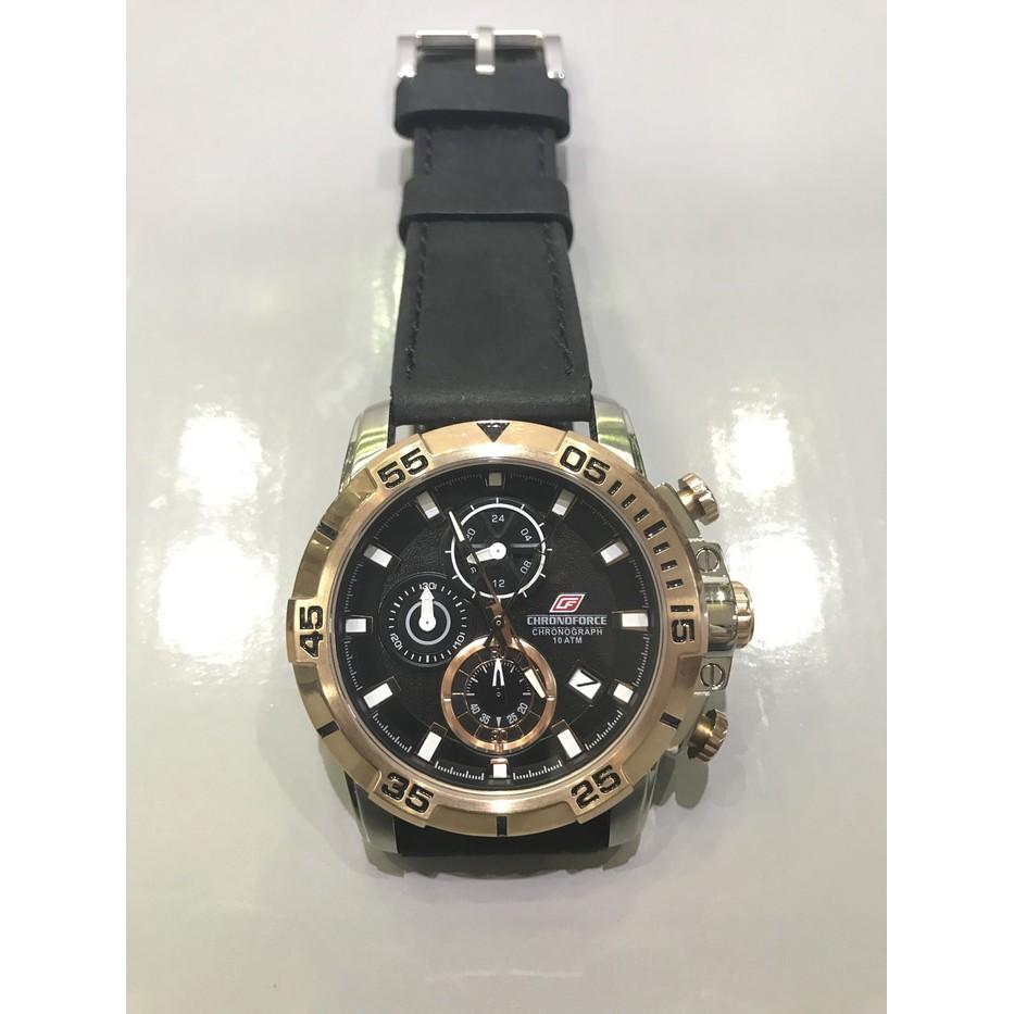 Jam Tangan Original Chronoforce 2080g Pria Shopee Indonesia Chonoforce 5236mcfb Chronograph Watch Strap Stainless Steel Hitam R