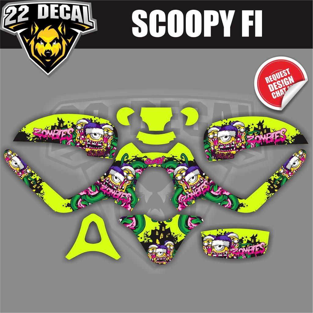 Decal Sticker Scoopy Fi Minion Zombie Bahan Berkualitas Shopee