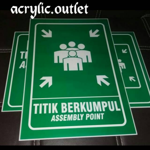 Safety Sign Assembly Point Titik Kumpul Transign Reflektif Shopee