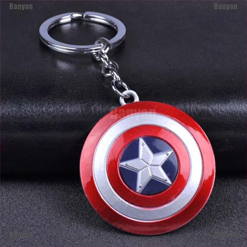 Marvel Avengers Endgame Captain America Damaged Shield Alloy Key Chains Keychain