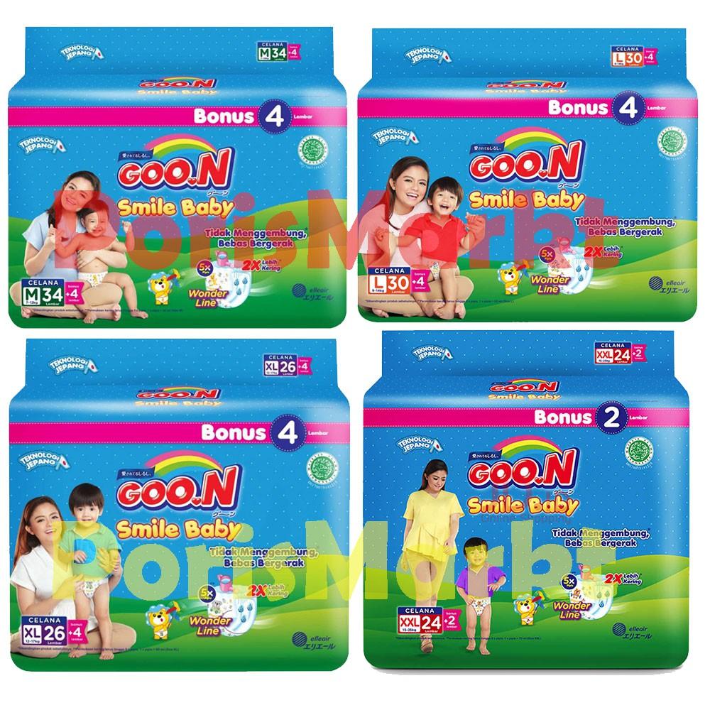 Promo Goon Smile Baby Pants Wonderline Jumbo M Isi 24 Karton Night 22 Bonus 2 Shopee Indonesia