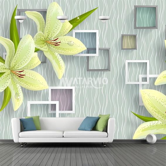 Wallpaper 3d Wallpaper Ruang Tamu Wallpaper Bunga Shopee Indonesia