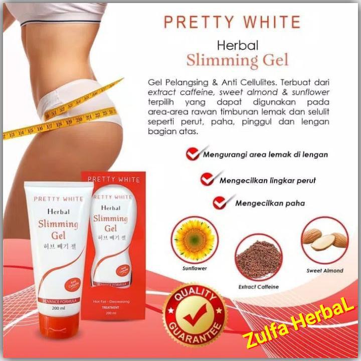 PRETTY WHITE Slimming Gel Anti Selulit-Strecmart PELANGSING BPOM HERBAL | Shopee Indonesia
