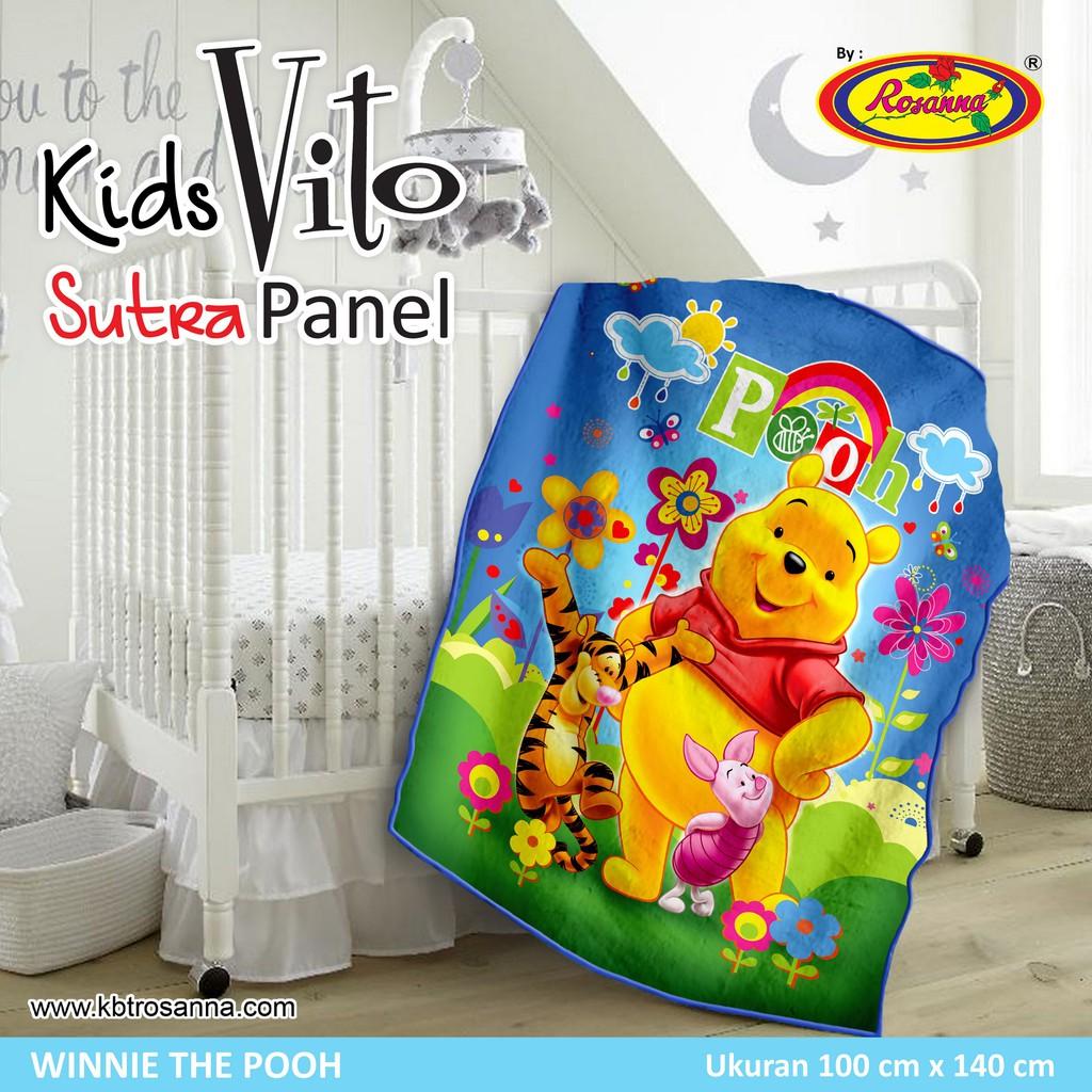 Selimut Vito Kids Sutra Panel 100x140 Frozen Olaf Shopee Indonesia Akiko 150x200