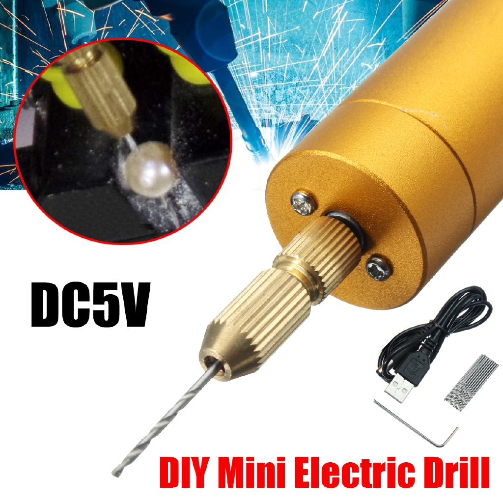 Small Micro Mini Electric Aluminum Hand Portable Handheld Drill Bits 0.8-1.5mm