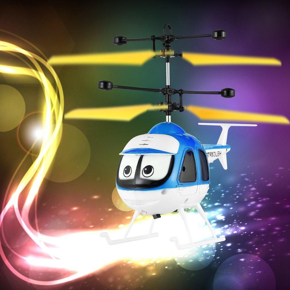Diskon Heboh Mainan RC Drone Helikopter Induksi Terbang Dengan Desain Kartun Untuk Anak