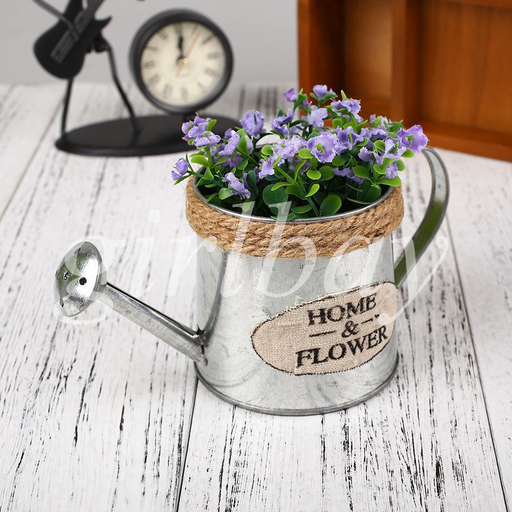 Keranjang Pot Bunga / Tanaman dengan Model Gantung dan Bahan Besi Mudah Dilepas Bergaya Vintage