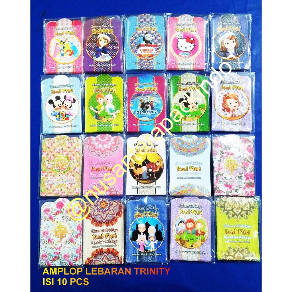 1 Pack Amplop Angpau Flanel Lebaran Karakter Lucu Shopee Indonesia Amploo