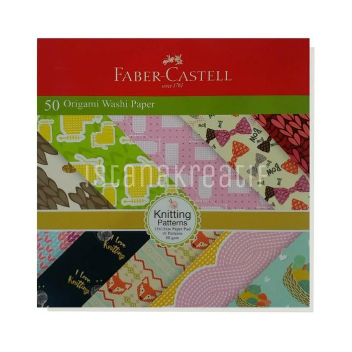 (50 lembar)| 15 x 15 cm | origami paper | kertas lipat warna motif | Faber castel | Shopee Indonesia