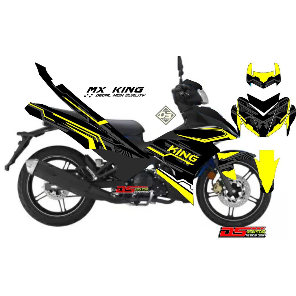 Decal striping jupiter mx king lis simpel kuning