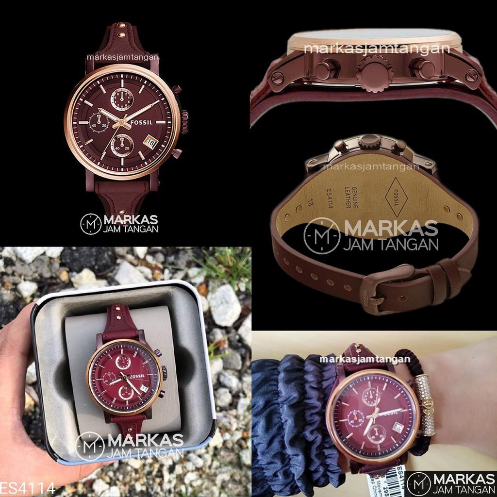 Fossil Sam Dress Q Gazer Rose Gold Round Dial Jam Tangan Wanita Gratis Ongkir Es3545 Jacqueline Ftw1116 Shopee Indonesia