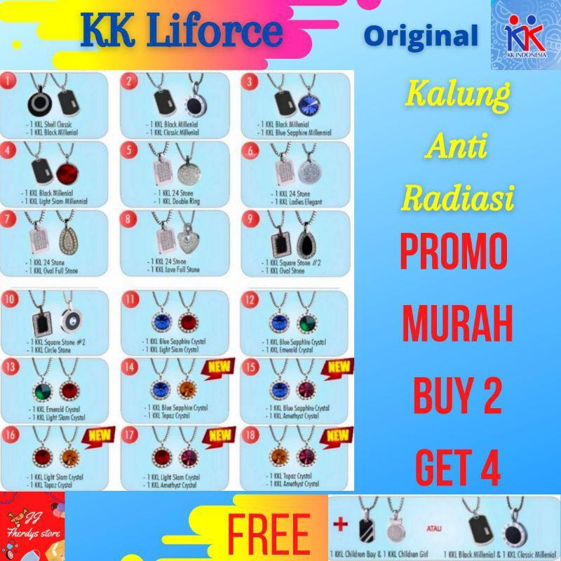 Promo 4 kalung KK Liforce kalung peredam radiasi KK Indonesia Original