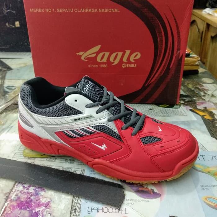 gwx-196 sepatu olahraga badminton bulutangkis EAGLE RANGER red white  73e7297182
