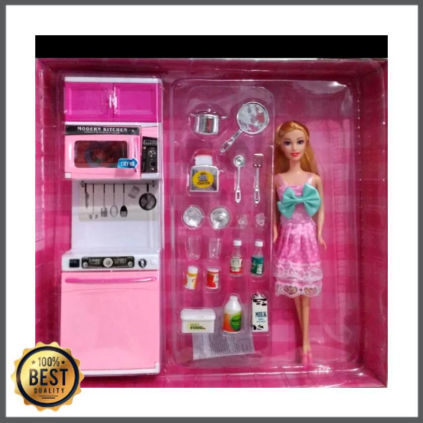 Dz Id Mainan Anak Dapur Modern Kitchen Barbie Pink 818 8 Ada Boneka 28 Cm Rk 643 Shopee Indonesia