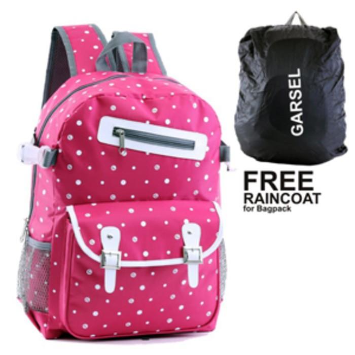 tas gendong ransel   tas sekolah anak remaja perempuan tas pink garsel  48a7c0fb9f