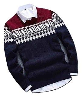 sweater rajut pria COLOMBUS NAVY