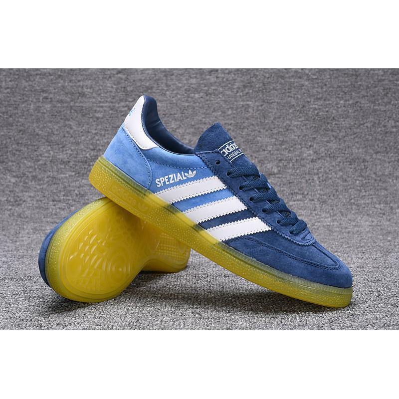 Sepatu Sneakers Model Adidas Original spezial Low Top Warna Biru Muda Ukuran  40-44 untuk Pria  641d5e8b38