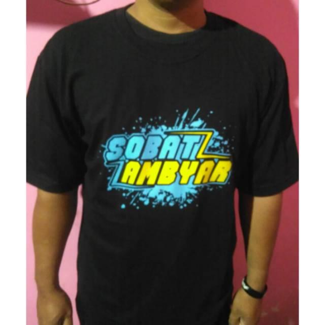 Kaos Distro Sobat Ambyar Shopee Indonesia
