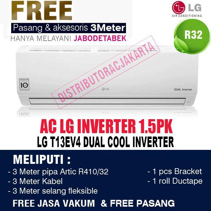 AC LG 1/2 PK 1/2PK inverter ( Double Eco Inverter ) T06EV4 - 1.5PK EV13EV4 DIJAMIN