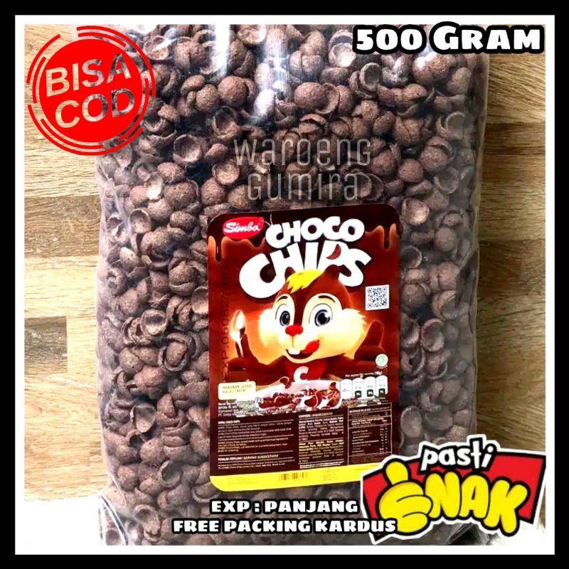 Simba Choco Chips 500 Gram Choco Crunch Snack Kiloan Cemilan Jadul Makanan Ringan Jajanan Murah