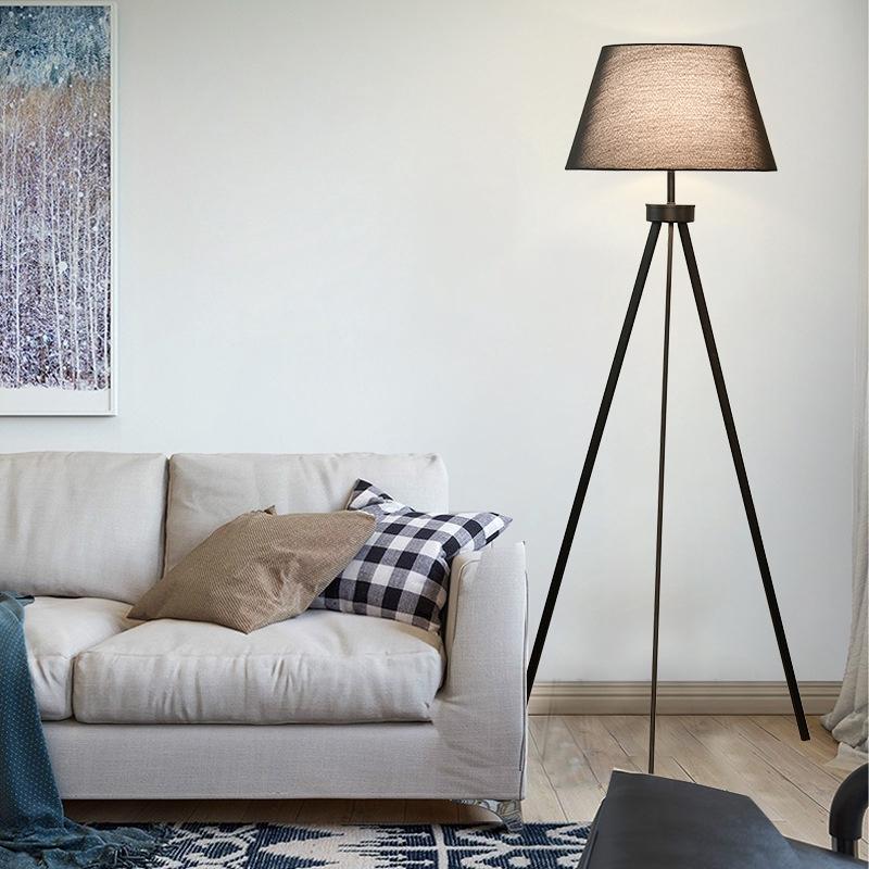Ruang Tamu Tiga Sudut Lantai Lampu Nordic Kain Hitam Geometri Post Modern Minimalis Lampu Lantai Kam Shopee Indonesia