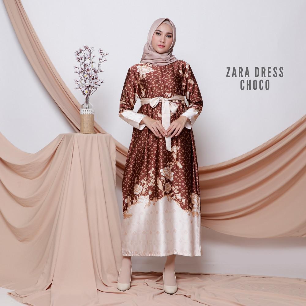 Zara Dress Baju Gamis Wanita Muslim Femine