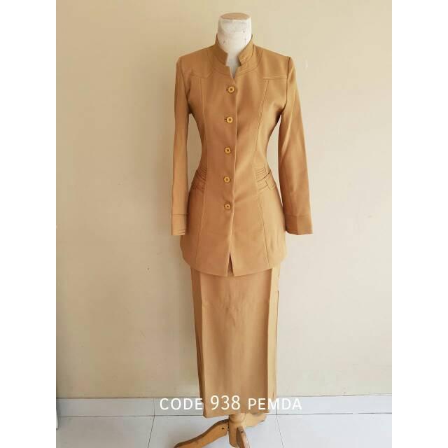 Sale Baju Kerja Seragam Pns Cewek Code 938 Pemda Khaki Keki Muslimah Best Seller Murah Model Baru