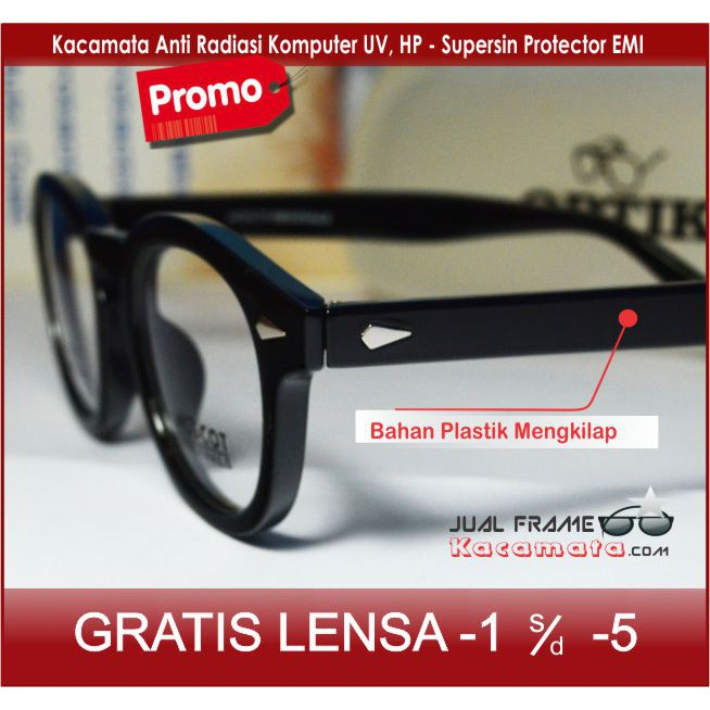 frame kacamata minus kayu pria wanita baca anti radiasi retro ... 5bb697fd23